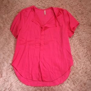 Pink blouse- 100% polyester